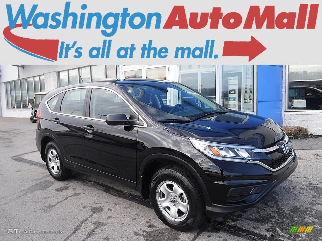 2015 CR-V LX AWD - Crystal Black Pearl / Black photo #1