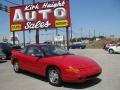 Bright Red 1996 Saturn S Series SC2 Coupe