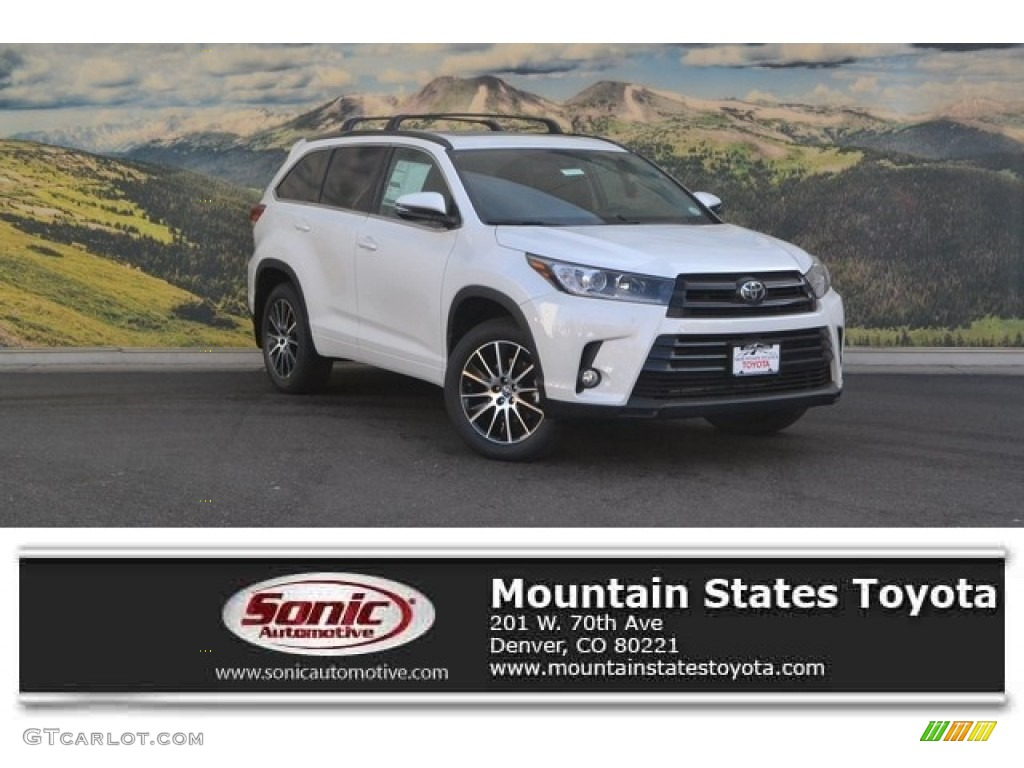2017 blizzard white pearl toyota highlander se awd 117412037 car color galleries. Black Bedroom Furniture Sets. Home Design Ideas