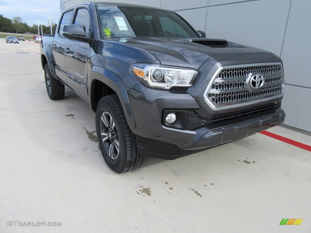 2017 magnetic gray metallic toyota tacoma trd sport double cab 117434793 car. Black Bedroom Furniture Sets. Home Design Ideas