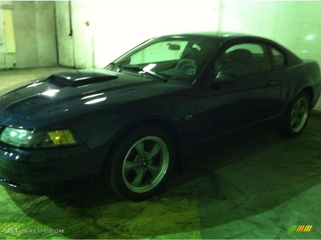 2001 Mustang GT Coupe - True Blue Metallic / Dark Charcoal photo #1