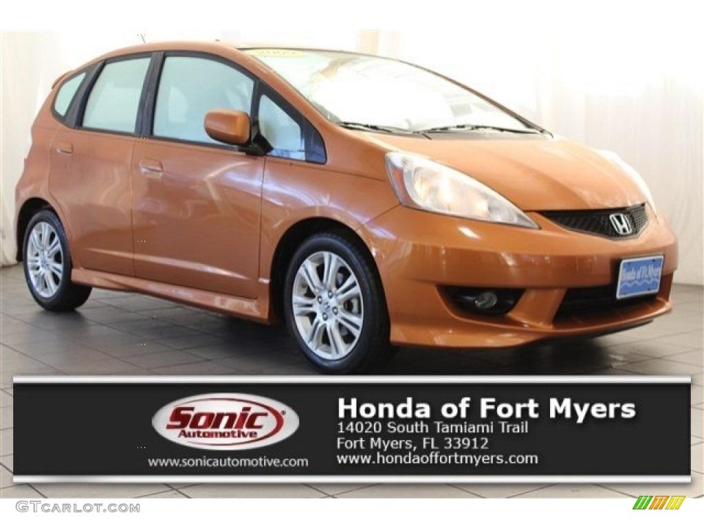 2009 orange revolution metallic honda fit sport 117494024 for Orange honda fit