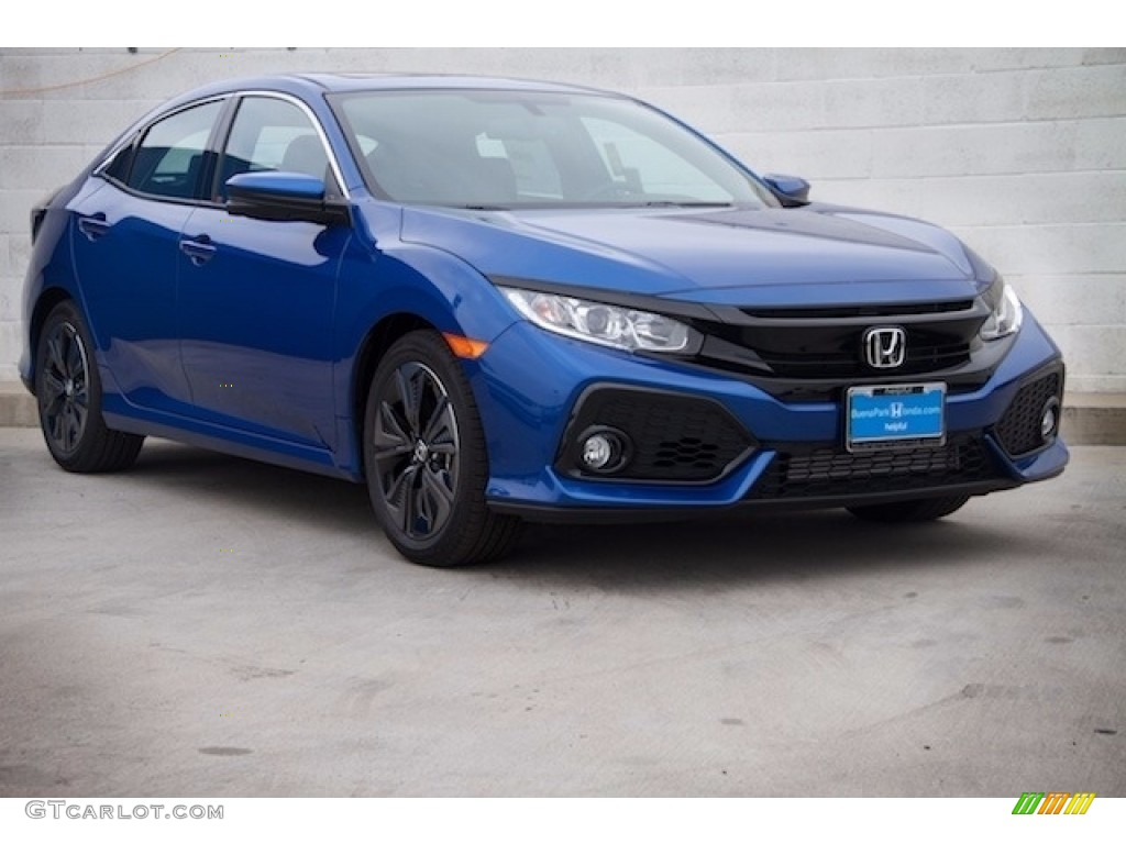 2017 aegean blue metallic honda civic ex l navi hatchback 117502884 car color. Black Bedroom Furniture Sets. Home Design Ideas