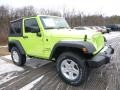 2017 Hypergreen Jeep Wrangler Sport 4x4  photo #11
