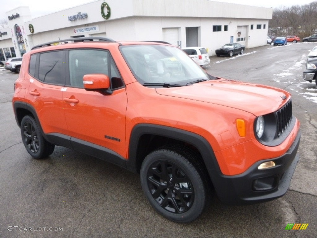 2017 Renegade Latitude 4x4 - Omaha Orange / Black photo #10