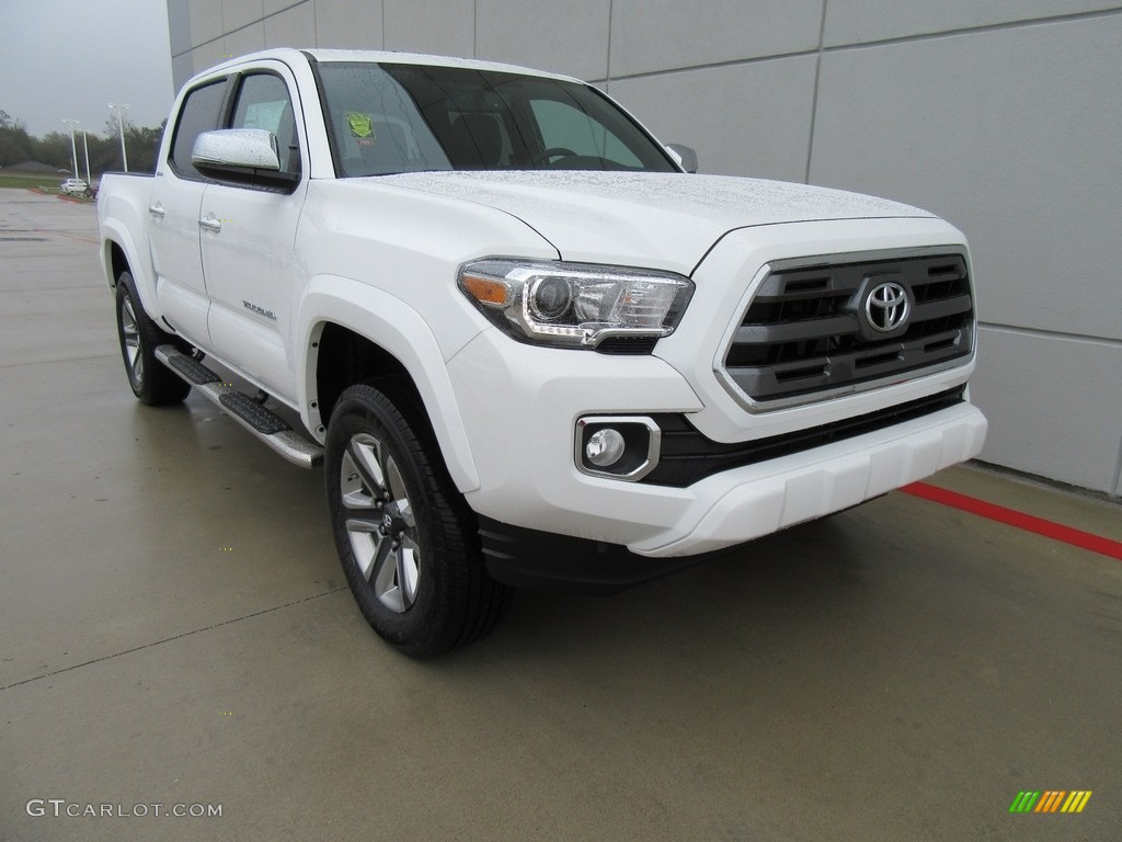2017 super white toyota tacoma limited double cab 4x4 117532461 photo 21 car. Black Bedroom Furniture Sets. Home Design Ideas