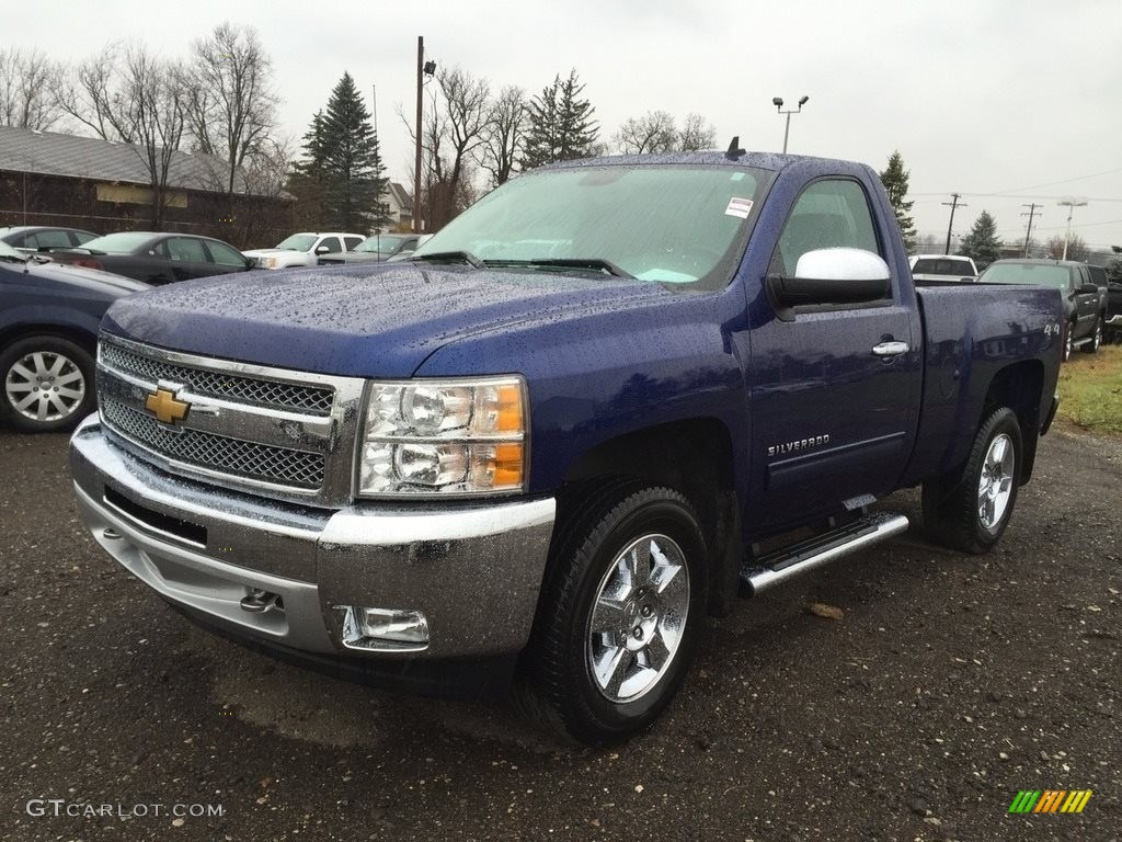2013 Silverado 1500 LT Regular Cab 4x4 - Blue Topaz Metallic / Ebony photo #1