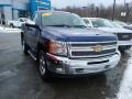 2013 Blue Topaz Metallic Chevrolet Silverado 1500 LT Regular Cab 4x4  photo #3