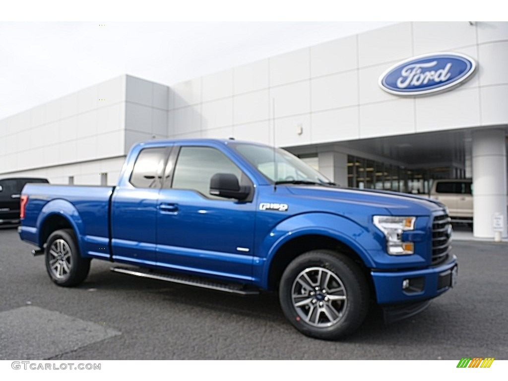 2017 F150 Xlt Supercab Lightning Blue Black Photo 1