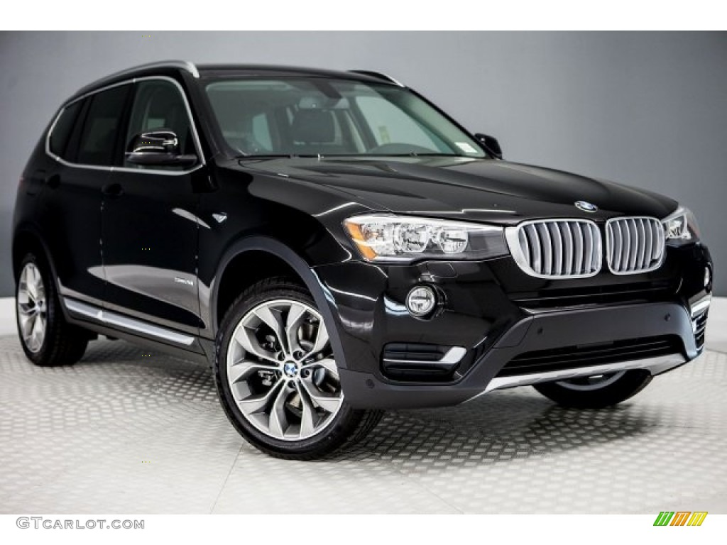 2017 jet black bmw x3 sdrive28i 117550579 car color galleries. Black Bedroom Furniture Sets. Home Design Ideas
