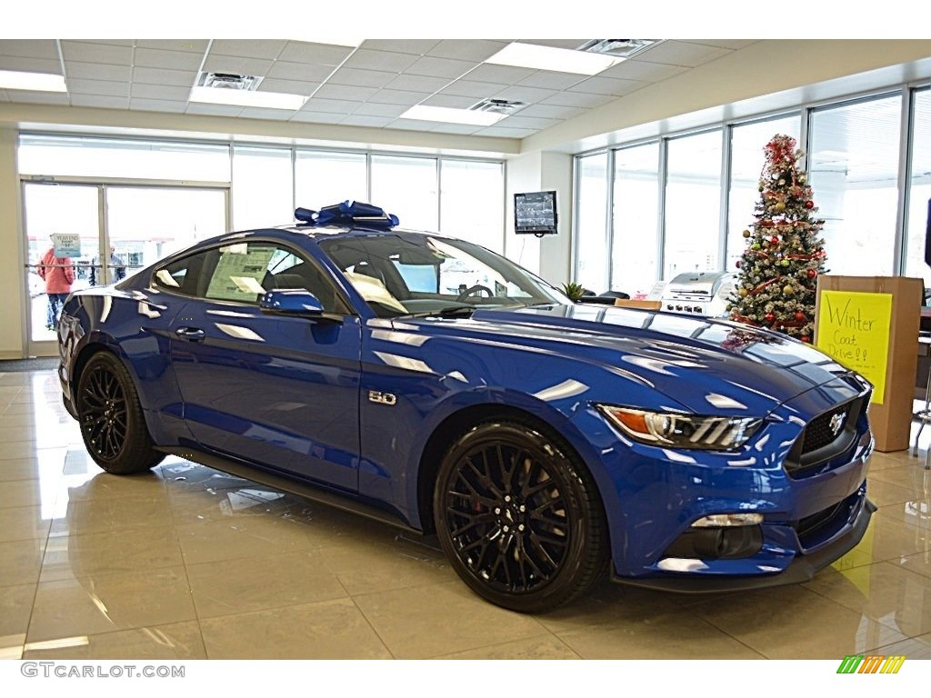 Lightning Blue Mustang >> 2017 Lightning Blue Ford Mustang Gt Premium Coupe 117575309