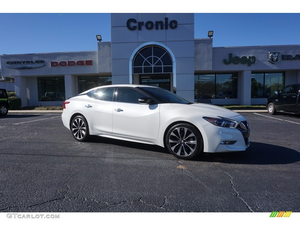 2016 pearl white nissan maxima sr 117575356 car color galleries. Black Bedroom Furniture Sets. Home Design Ideas