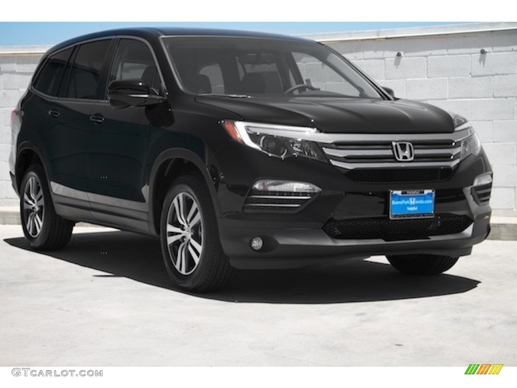 2017 Crystal Black Pearl Honda Pilot Ex L 117630132 Photo