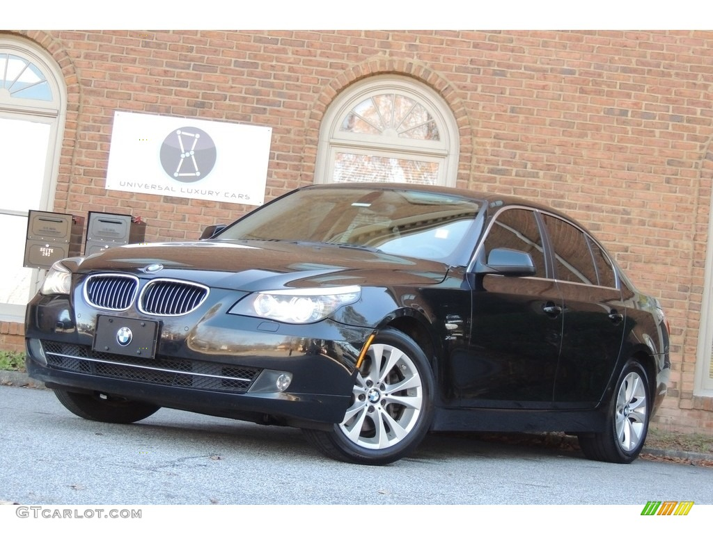2010 carbon black metallic bmw 5 series 535i xdrive sedan. Black Bedroom Furniture Sets. Home Design Ideas