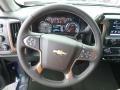 Jet Black Steering Wheel Photo for 2017 Chevrolet Silverado 1500 #117676742