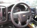 Jet Black Steering Wheel Photo for 2017 Chevrolet Silverado 1500 #117691156