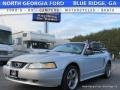 2000 Silver Metallic Ford Mustang V6 Convertible  photo #1