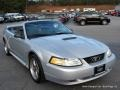 2000 Silver Metallic Ford Mustang V6 Convertible  photo #7