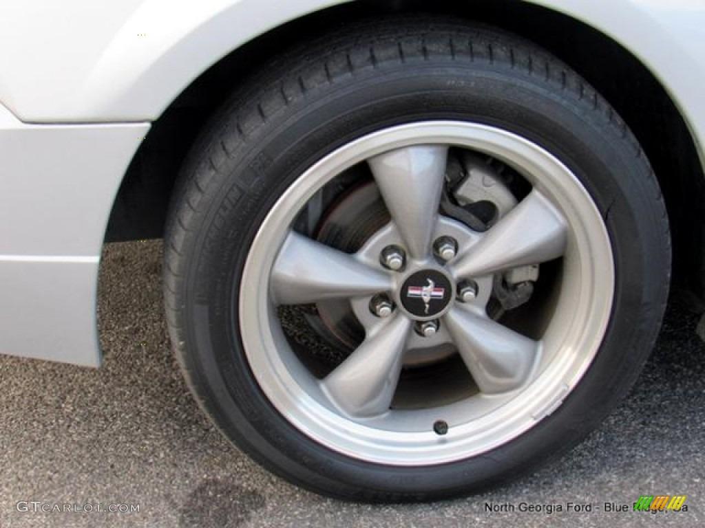 2000 Mustang V6 Convertible - Silver Metallic / Dark Charcoal photo #9