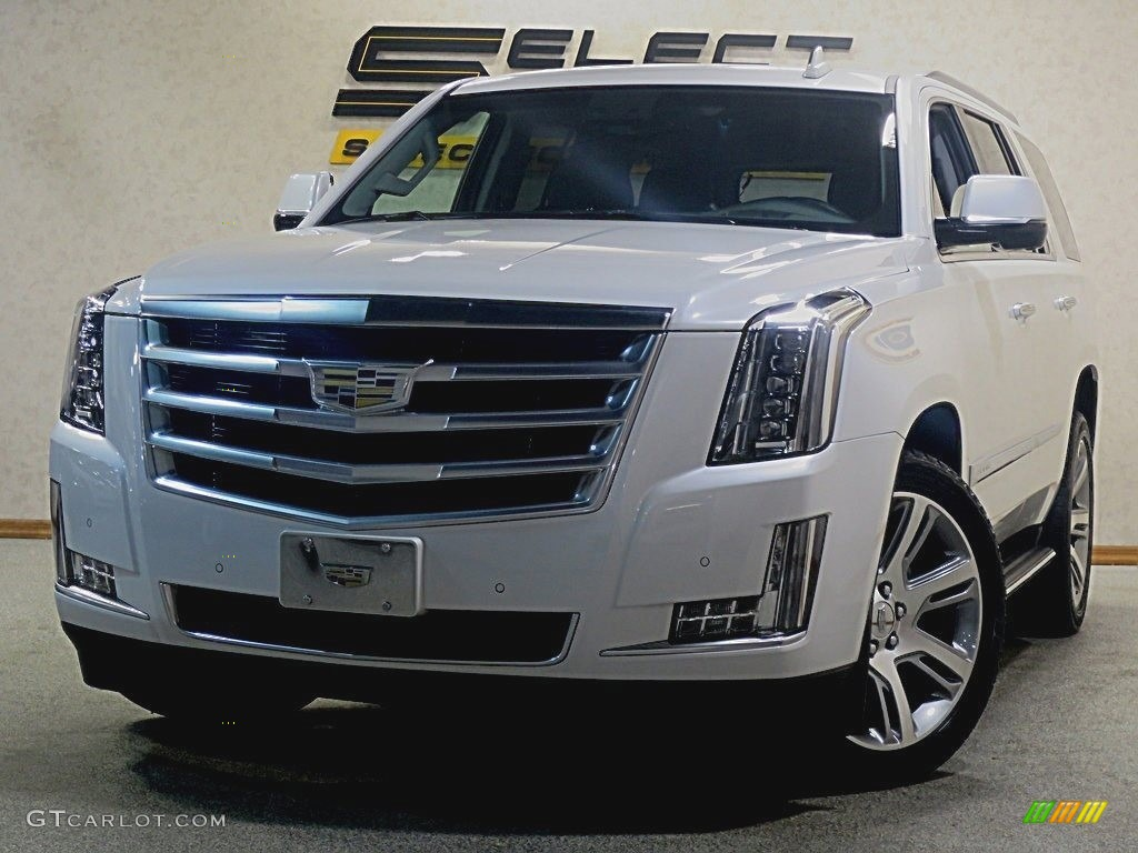 2016 crystal white tricoat cadillac escalade premium 4wd. Black Bedroom Furniture Sets. Home Design Ideas