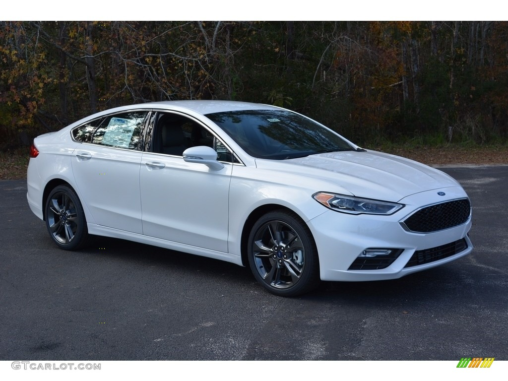 White Platinum Ford Fusion