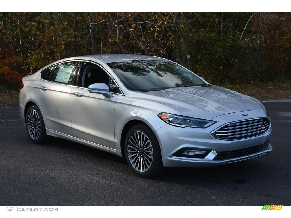 Oxford White Ford Fusion 2017 >> 2017 Ingot Silver Ford Fusion Titanium #117727472 | GTCarLot.com - Car Color Galleries