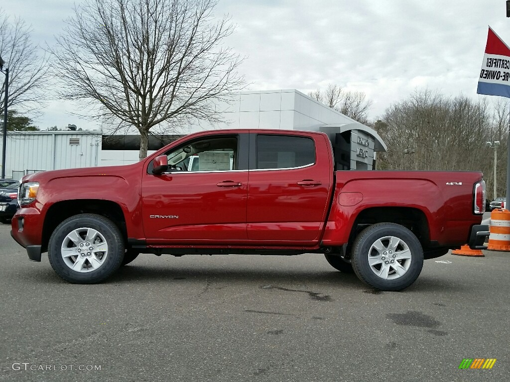 2017 Red Quartz Tintcoat GMC Canyon SLE Crew Cab 4x4 #117727116 Photo #3 | GTCarLot.com - Car ...