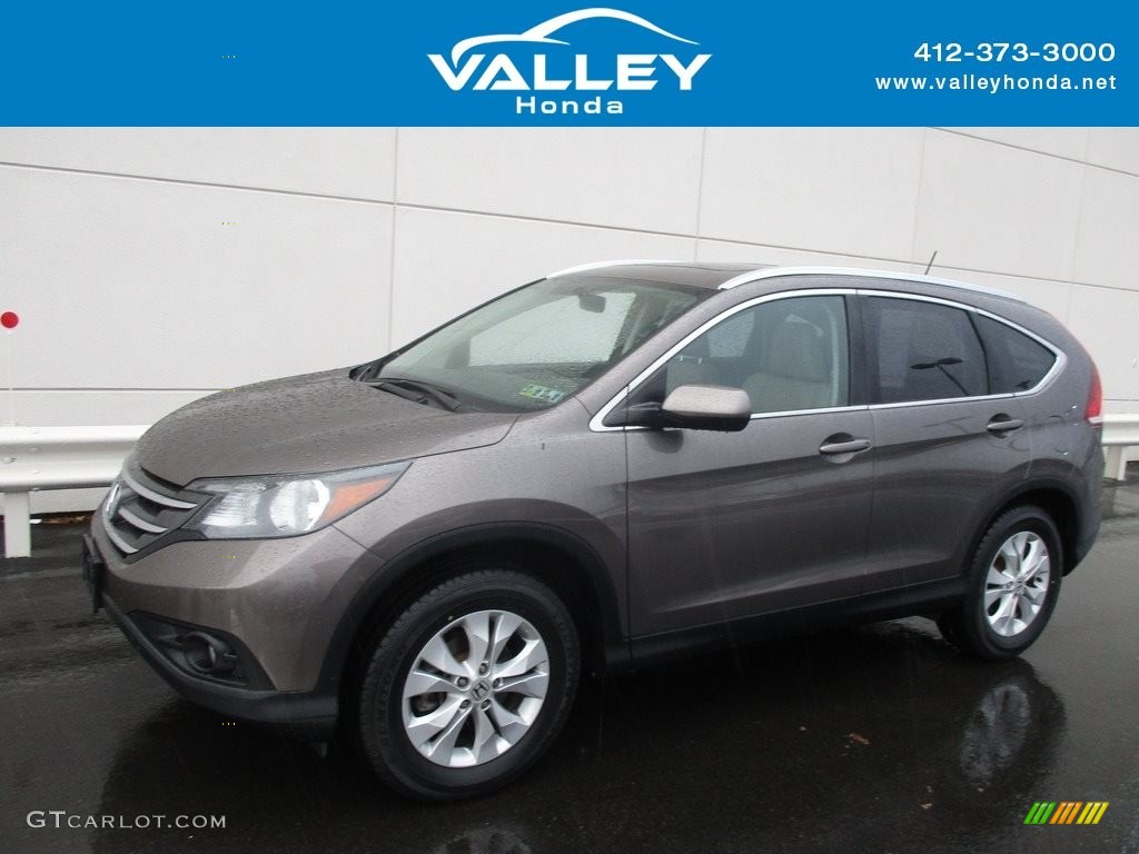 2014 CR-V EX-L AWD - Urban Titanium Metallic / Beige photo #1