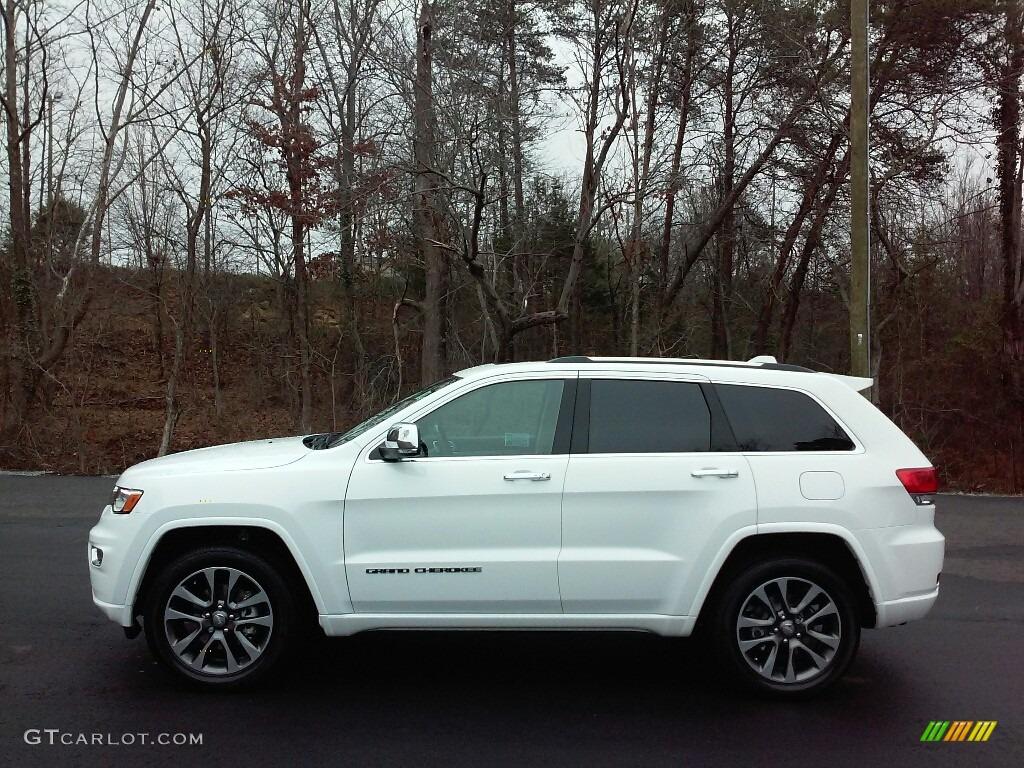 2017 Bright White Jeep Grand Cherokee Overland 4x4 117773261