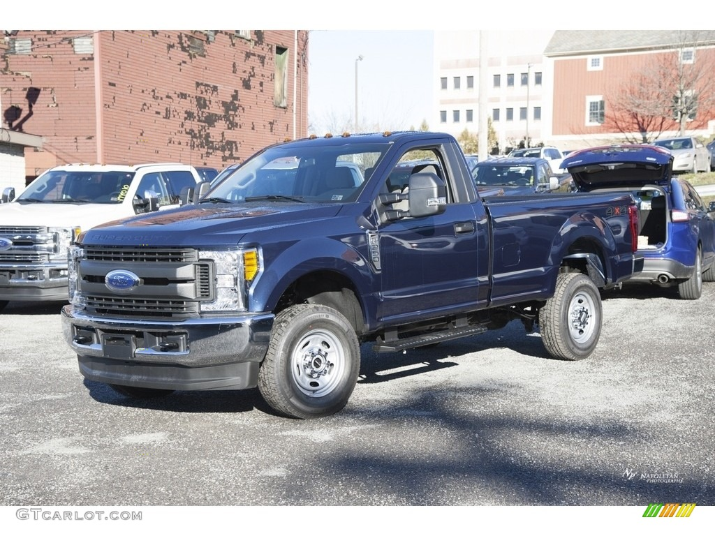 2017 f250 super duty xl regular cab 4x4 blue jeans medium earth gray photo