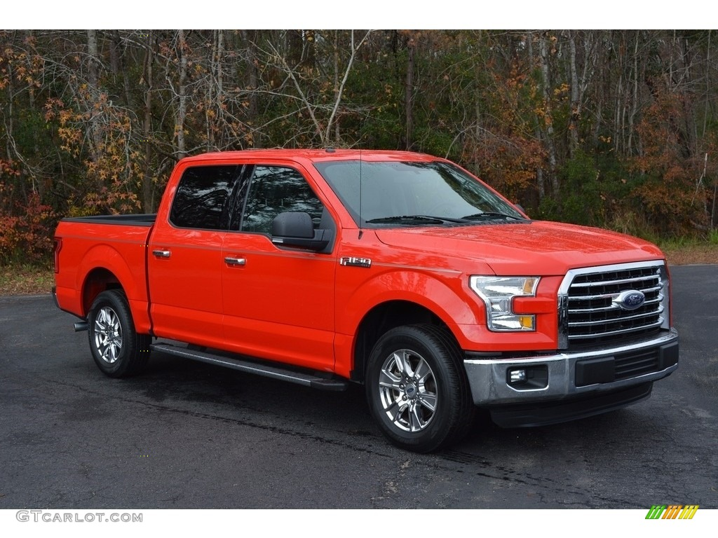 2016 F150 XLT SuperCrew - Race Red / Medium Earth Gray photo #1