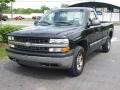 2000 Onyx Black Chevrolet Silverado 1500 Regular Cab 4x4  photo #2
