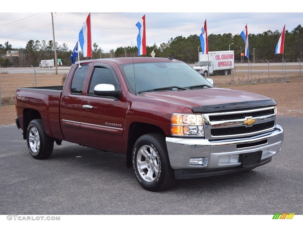 2013 Silverado 1500 LT Extended Cab - Victory Red / Light Titanium/Dark Titanium photo #1