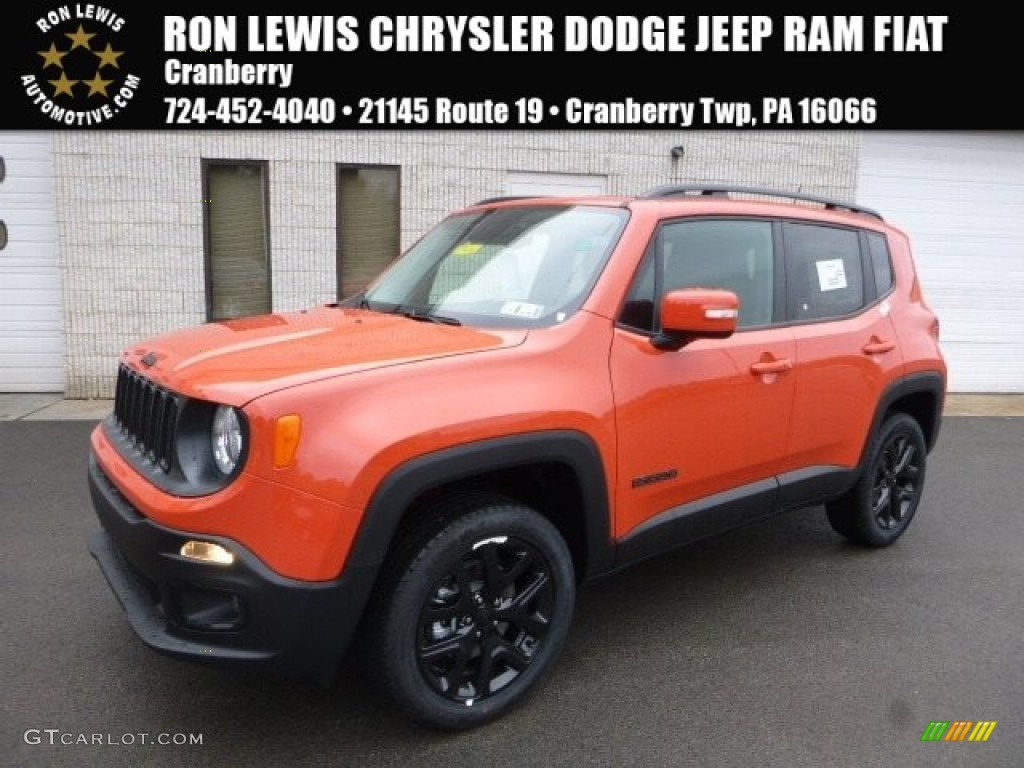 Omaha Orange Jeep Renegade