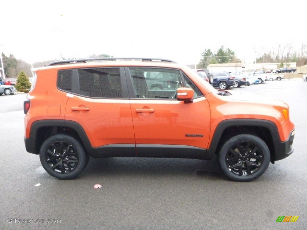 2017 Renegade Altitude 4x4 - Omaha Orange / Black photo #7