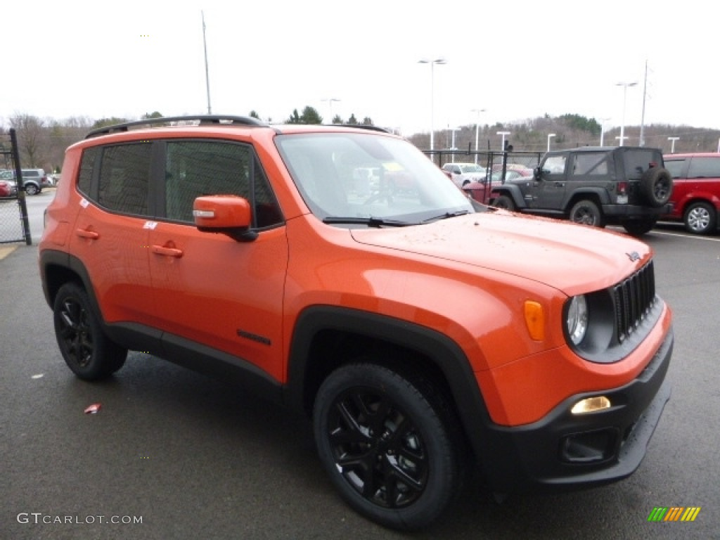 2017 Renegade Altitude 4x4 - Omaha Orange / Black photo #11