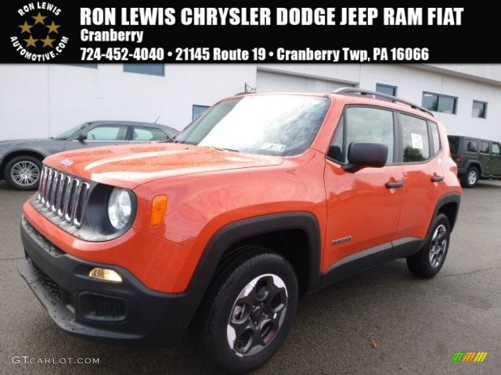 2017 Renegade Sport 4x4 - Omaha Orange / Black photo #1