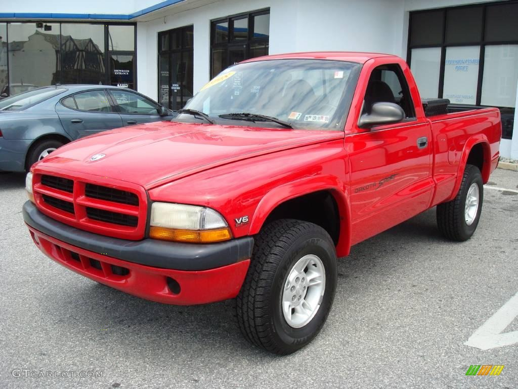 Flame red dodge dakota