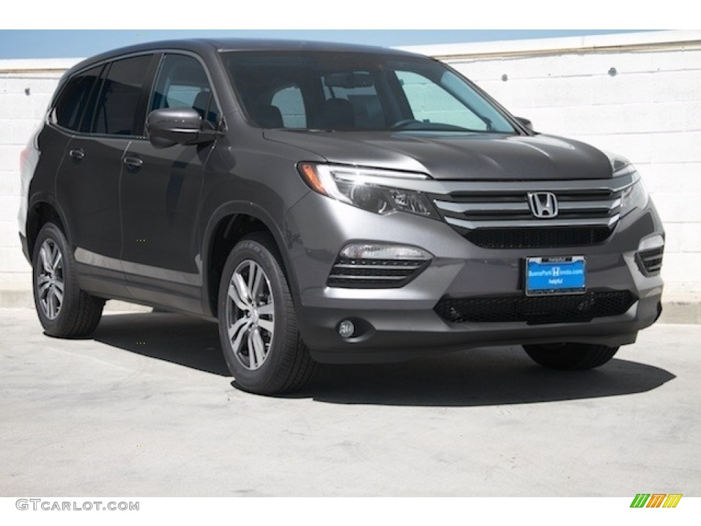 2017 modern steel metallic honda pilot ex l 117841834 for Black honda pilot