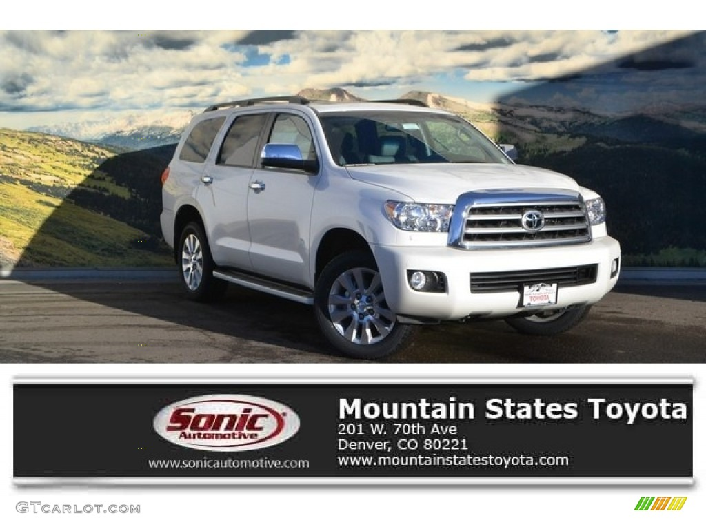 2017 blizzard pearl white toyota sequoia platinum 4x4 117841692 photo 11 car. Black Bedroom Furniture Sets. Home Design Ideas