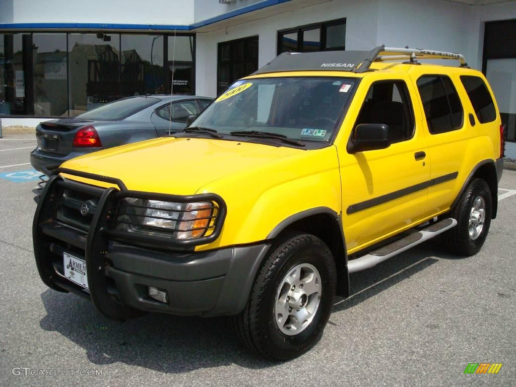 2000 solar yellow nissan xterra se v6 4x4 11771071. Black Bedroom Furniture Sets. Home Design Ideas