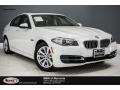 Mineral White Metallic 2014 BMW 5 Series 528i Sedan