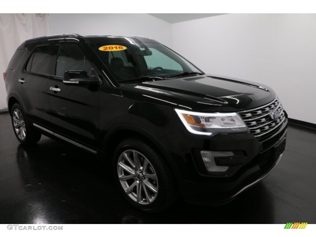 Black Ford Explorer >> 2016 Shadow Black Ford Explorer Limited 4WD #117890625 Photo #6 | GTCarLot.com - Car Color Galleries