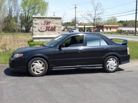 Black Mica Mazda Protege in 2002. Black Mica