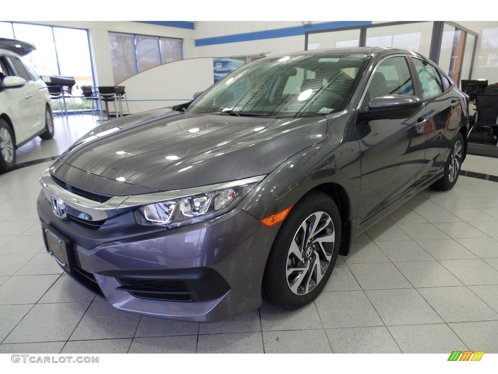 2017 Modern Steel Metallic Honda Civic EX Sedan #117910704 Photo #6 | GTCarLot.com - Car Color ...
