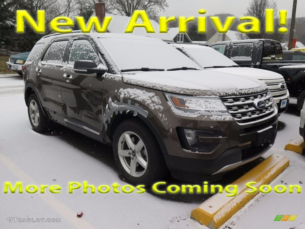 2016 Explorer XLT 4WD - Caribou Metallic / Ebony Black photo #1