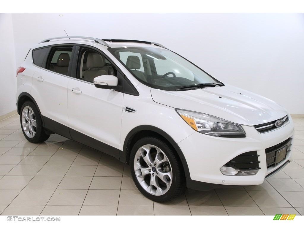 2014 white platinum ford escape titanium 2 0l ecoboost 117964038 car color. Black Bedroom Furniture Sets. Home Design Ideas