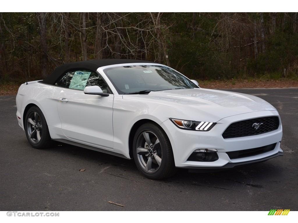 2017 Mustang V6 Convertible Oxford White Ebony Photo 1