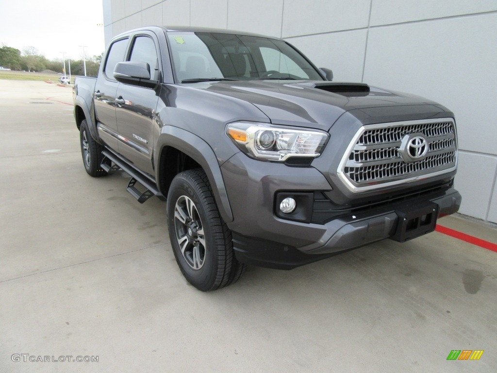 2017 magnetic gray metallic toyota tacoma trd sport double cab 118008539 car. Black Bedroom Furniture Sets. Home Design Ideas