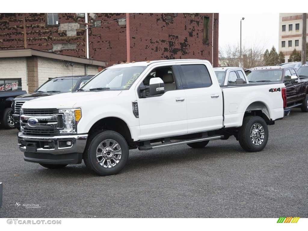 2017 oxford white ford f250 super duty xlt crew cab 4x4 118032526 car color. Black Bedroom Furniture Sets. Home Design Ideas